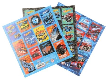 Hot Wheels stickervel