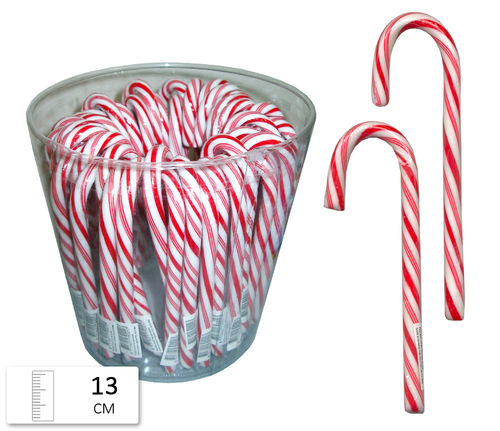 Candy canes rood/wit 12 Gram