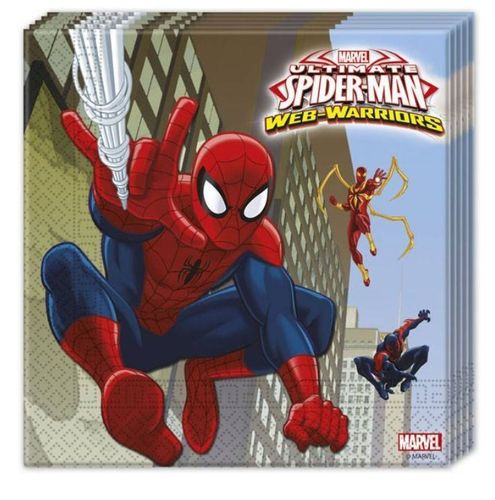 Spiderman servetten, 20 stuks