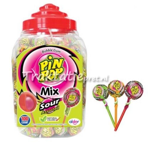Pin Pop Sour, lollie