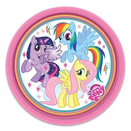 My Little pony gebaks bordjes, 8 stuks