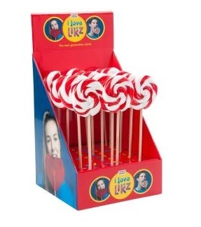 Spiraal lollie rood/wit